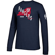 adidas Men's 2018 Winter Classic New York Rangers State Navy Long Sleeve Shirt