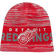 adidas Men's Detroit Red Wings Locker Room Red Knit Beanie