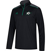 adidas Men's Dallas Stars Black Performance Quarter-Zip Jacket