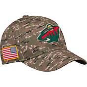 adidas Men's Minnesota Wild Camo Structured Fitted Flex Hat