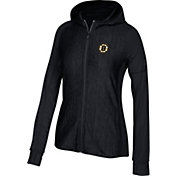 adidas Women's Boston Bruins Logo Black Full-Zip Hoodie