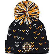 adidas Women's Boston Bruins Black Cuff Pom Knit Beanie