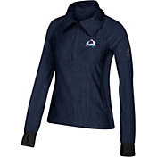 adidas Women's Colorado Avalanche Logo Navy Performance Quarter-Zip Pullover
