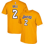 adidas Youth Los Angeles Lakers Lonzo Ball #2 Gold T-Shirt