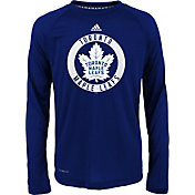 adidas Youth Toronto Maple Leafs Practice Royal Performance Long Sleeve Shirt