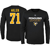 adidas Youth Pittsburgh Penguins Evgeni Malkin #71 Black Long Sleeve Shirt