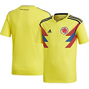 adidas Youth Colombia Replica Home Yellow Stadium Jersey