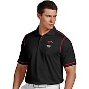 Antigua Men's Miami Heat Icon Black Performance Polo