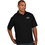 Antigua Men's San Antonio Spurs Xtra-Lite Black Pique Performance Polo
