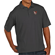 Antigua Men's Bowling Green Falcons Grey Pique Xtra-Lite Polo