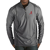Antigua Men's Alabama Crimson Tide Grey Tempo Half-Zip Pullover