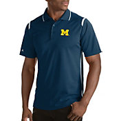 Antigua Men's Michigan Wolverines Merit Xtra-Lite White Polo