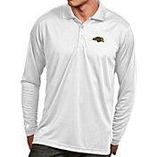 Antigua Men's North Dakota State Bison White Exceed Long Sleeve Polo