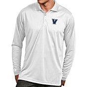 Antigua Men's Villanova Wildcats White Exceed Long Sleeve Polo