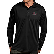 Antigua Men's Southern Illinois  Salukis Black Exceed Long Sleeve Polo