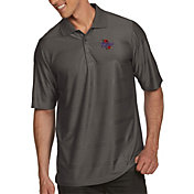 Antigua Men's Tulsa Golden Hurricane Grey Illusion Polo