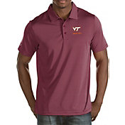 Antigua Men's Virginia Tech Hokies Maroon Quest Polo