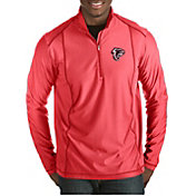 Antigua Men's Atlanta Falcons Quick Snap Logo Tempo Red Quarter-Zip Pullover