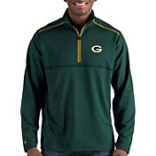 Antigua Men's Green Bay Packers Prodigy Quarter-Zip Green Pullover