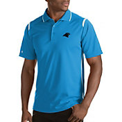 Antigua Men's Carolina Panthers Merit Xtra-Lite Polo
