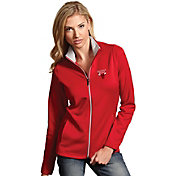 Antigua Women's Chicago Bulls Leader Red Full-Zip Fleece
