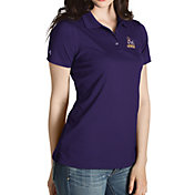 Antigua Women's James Madison Dukes Purple Inspire Performance Polo