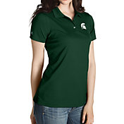 Antigua Women's Michigan State Spartans Green Inspire Performance Polo