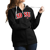 Antigua Women's San Diego State Aztecs Black Victory Full-Zip Hoodie