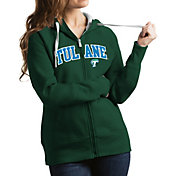 Antigua Women's Tulane Green Wave Olive Victory Full-Zip Hoodie