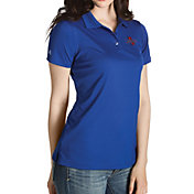 Antigua Women's Tulsa Golden Hurricane Blue Inspire Performance Polo