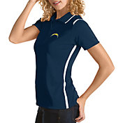 Antigua Women's Los Angeles Chargers Merit Navy Xtra-Lite Pique Polo