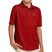 Antigua Youth Dayton Flyers Red Pique Polo