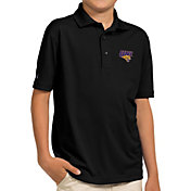 Antigua Youth Northern Iowa Panthers  Black Pique Polo