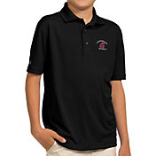 Antigua Youth Washington State Cougars Black Pique Polo