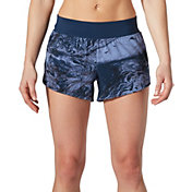 SECOND SKIN Women's Woven Perforated Printed Shorts