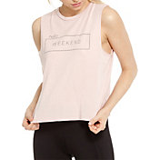 good hYOUman Lili Hello Weekend Cropped Muscle Tank Top