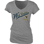 Blue 84 Women's West Virginia Mountaineers Grey V-Neck T-Shirt