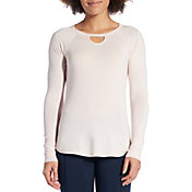 CALIA by Carrie Underwood Women's Effortless Rib Back Long Sleeve Shirt