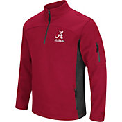 Colosseum Men's Alabama Crimson Tide Crimson Advantage Quarter-Zip Jacket