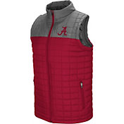 Colosseum Men's Alabama Crimson Tide Crimson/Grey Amplitude Puff Vest