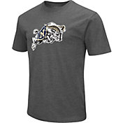 Colosseum Men's Navy Midshipmen Grey Dual Blend T-Shirt