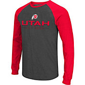 Colosseum Men's Utah Utes Grey Olympus II Long Sleeve Shirt