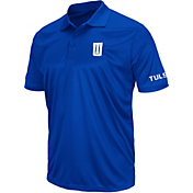 Colosseum Men's Tulsa Golden Hurricane Blue Performance Polo