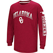 Colosseum Youth Oklahoma Sooners Crimson Grandstand Long Sleeve T-Shirt