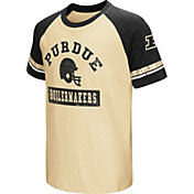 Colosseum Youth Purdue Boilermakers Black All Pro Raglan Football T-Shirt