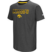 Colosseum Youth Iowa Hawkeyes Grey Hat Trick T-Shirt