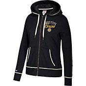 CCM Women's Boston Bruins Logo Fleece Black Full-Zip Hoodie