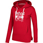 CCM Women's Detroit Red Wings Bottom Stripe Red Pullover Hoodie