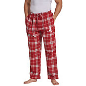 Concepts Sport Men's Alabama Crimson Tide Crimson/White Huddle Sleep Pants