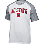Champion Men's NC State Wolfpack White Logo T-Shirt